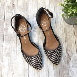 JEFFREY CAMPBELL Chevron Ankle Strap Wedge
